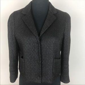 ELIE TAHARIE black snap button black blazer Size 4